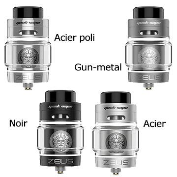 Différentes nuances du Geek Vape Zeus Bulb Dual RTA