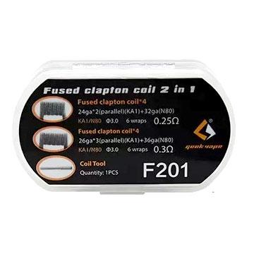Pack de 8 coils Coils F201 Fused Clapton
