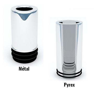 Driptip Joyetech eGo One type 510 Pyrex ou métal