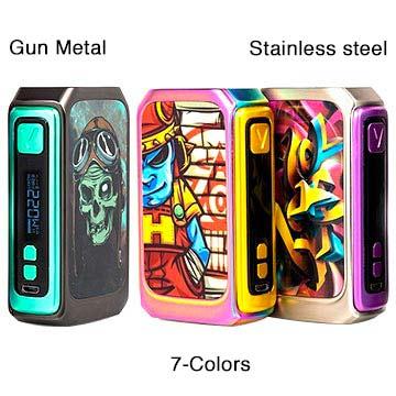 Modbox Vzone Graffiti 220W présentée dans les 3 coloris disponibles