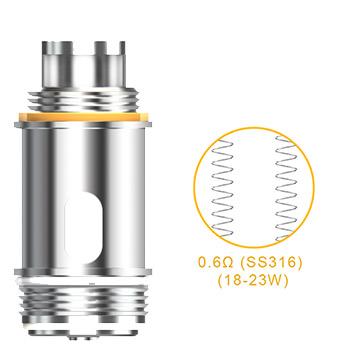 Résistance SS316 Dual coil 0.6 Ohm pockeX compatible NautilusX
