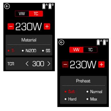 écran tactile de la Smoktech Species 230 W