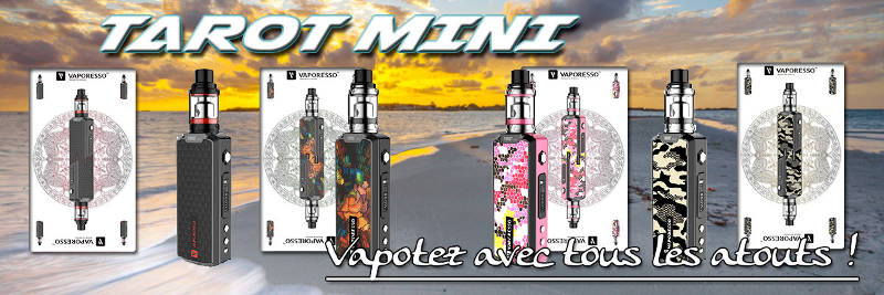 Vapoteuse Vaporesso Tarot mini : une ecigarette belle, simple et efficace.