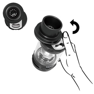 Remplissage topfill hyper-pratique du Vaporesso NRG SE 3,5 ml