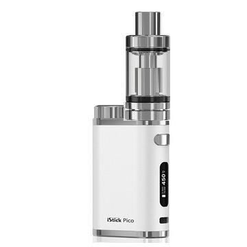 Pack ecigarette Eleaf Istick Pico blanc et clearomiseur Melo3