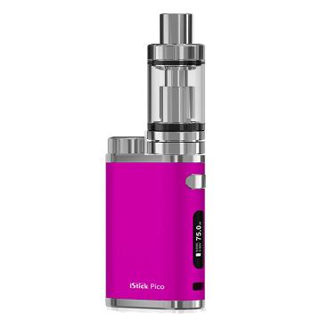 Pack ecigarette Eleaf Istick Pico rose et clearomiseur Melo3