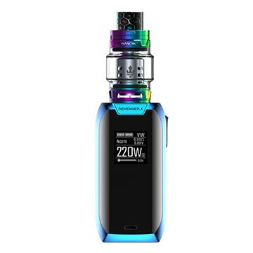 Vaporesso Revenger X bleue et clearomiseur Smoktech TFV12 Prince rainbow