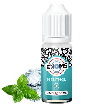 E-liquide Ekoms Menthol tabac blond discret et menthe puissante