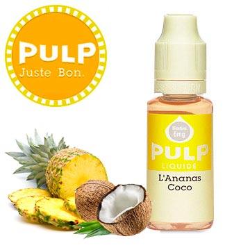Vapotage exotique avec ce eliquide Pulp Ananas coco