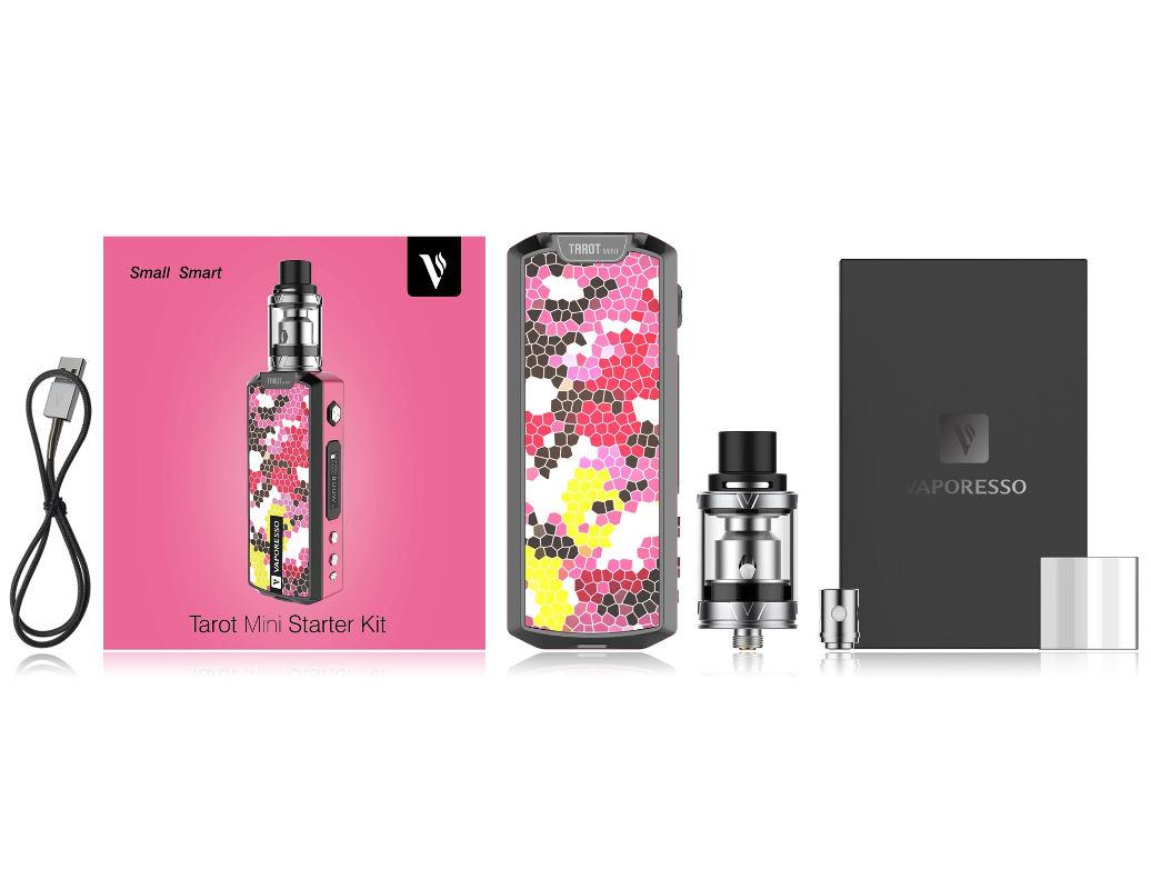 Les quatre coloris de la famille Vaporesso Tarot mini Contenu du pack  Vaporesso Tarot mini ... 8a6d5531018c
