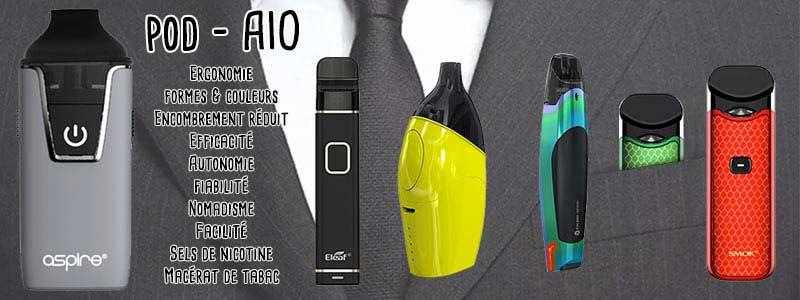 Les Pods : e-cigarettes discrètes et efficaces