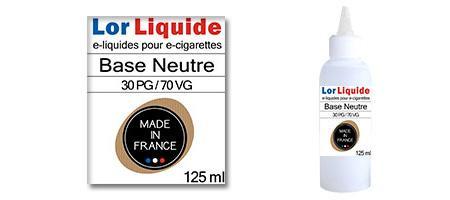Base neutre Lorliquide 30 PG - 70 VG