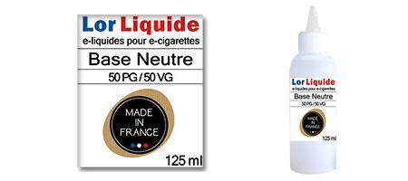 Base neutre Lorliquide 50 PG - 50 VG