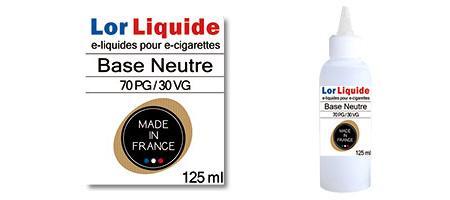 Base neutre Lorliquide 70 PG - 30 VG