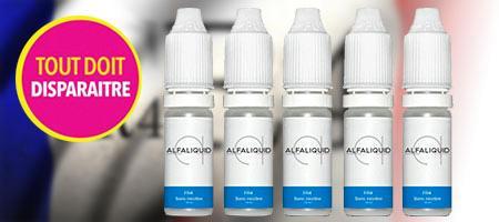 lot de 5 recharges e-liquide pour e-cigarettes Alfaliquid FR4