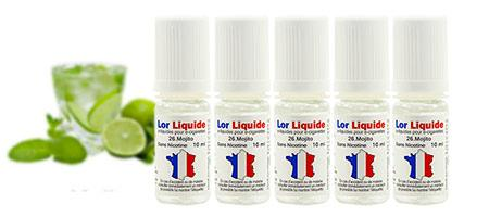 E-liquides Mojito de chez Lorliquide, en promotion par lot de cinq