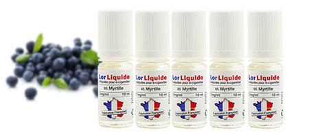 Lot de 5 eLiquides Lorliquide Myrtille