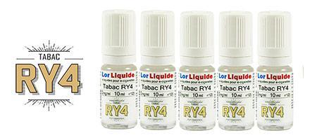 Lot de 5 eLiquides Lorliquide RY4