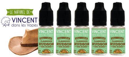 lot de 5 e-liquides Vincent dans les vapes Classic Hudson : 100% arômes naturels