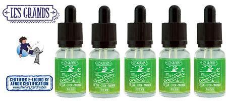 Lot de 5 E-liquides Vincent dans les vapes Grand Maitre