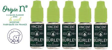 Lot de 5 E-liquides Origin NV Burley