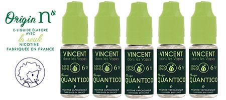 Lot de 5 E-liquides Origin NV Quantico