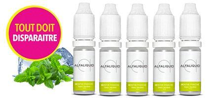 e-liquide Alfaliquid Menthe Fraiche arome de Menthe bonbon