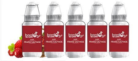 Lot de 5 E-liquides Bordo2 Fraise sauvage