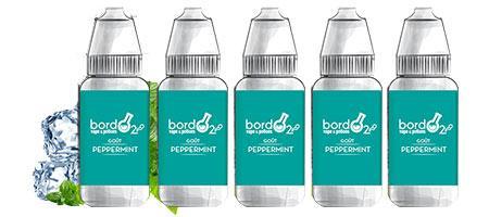 Lot de 5 E-liquides Bordo2 Peppermint