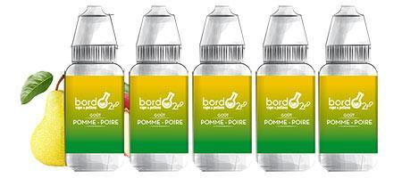Lot de 5 E-liquides Bordo2 Pomme-Poire