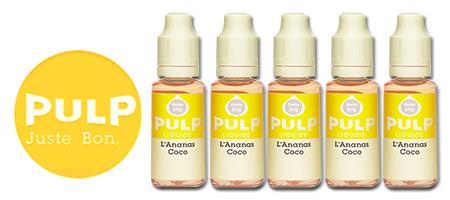 Lot de 5 E-liquides Pulp Ananas-Coco