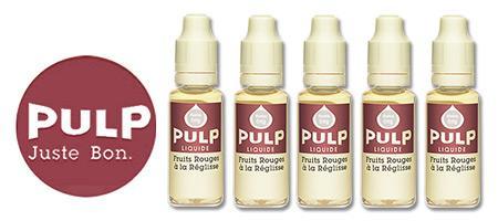 Lot de 5 E-liquides Pulp Fruits Rouges Réglisse