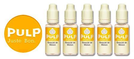 Lot de 5 E-liquides Pulp Granité de Melon