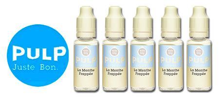 Lot de 5 E-liquides Pulp Menthe Frappée