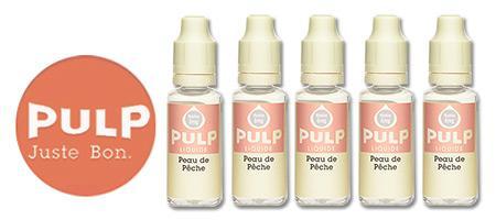 Lot de 5 E-liquides Pulp Peau de Pêche