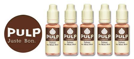 Lot de 5 E-liquides Pulp Blond Miel Noir