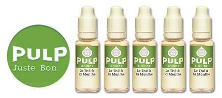 Lot de 5 E-liquides Pulp Thé à la Menthe