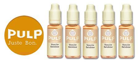 Lot de 5 E-liquides Pulp Vanille Extrème