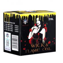 8 résistances Demon Killer Wick and Flame 316L