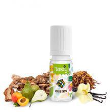 Eliquide French Touch Tasty Kubiks complexe gourmand, vanillé, arômes d'abricot et de poire sur une base de tabac blond