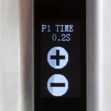 Toucher 1 point de la collone de droite ouvre l'accès au réglage de la durée