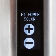 Toucher 1 point de la collone de gauche ouvre l'accès au réglage de la puissance