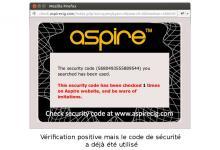 Code d'authentification déjà vu : ce produit peut être une contrefaçon